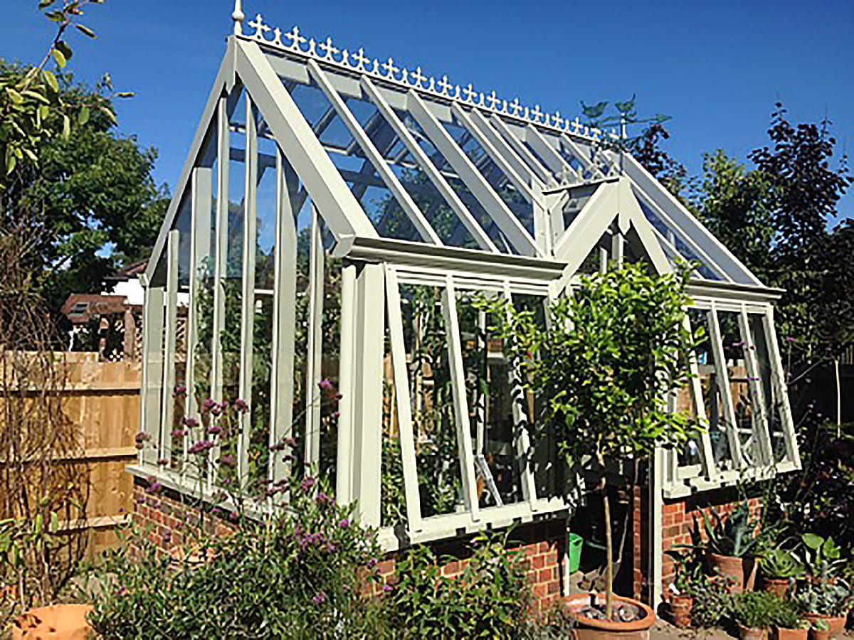 National Garden Scheme Sage greenhouse in Surrey