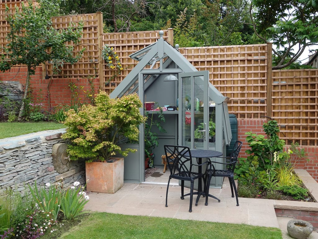 Small bespoke greenhouse in London