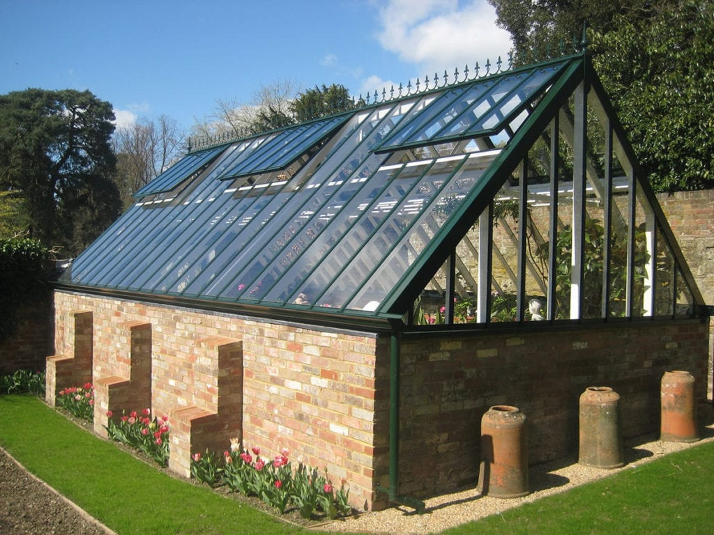 Greenhouse restoration at Pashley Manor on Sussex Kent border