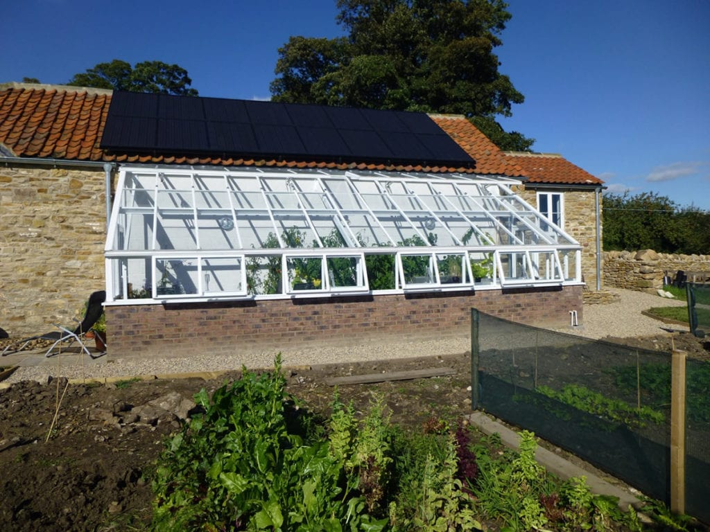 Lean to greenhouse restoration in Yorkshire