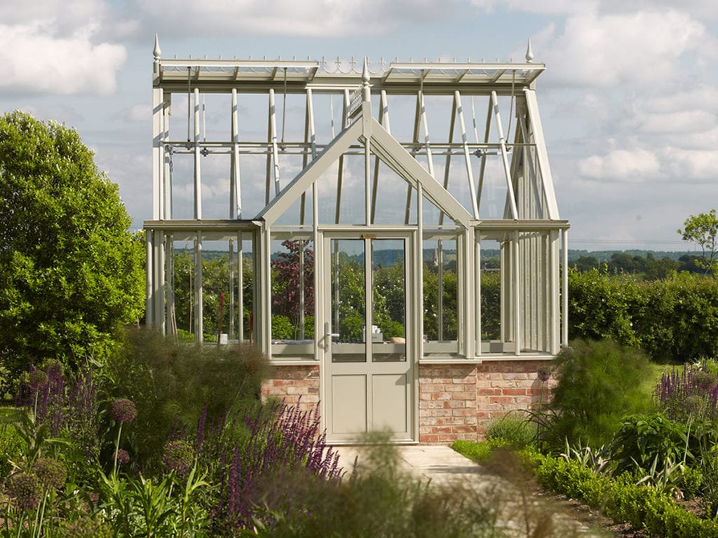 Traditional aluminium greenhouse