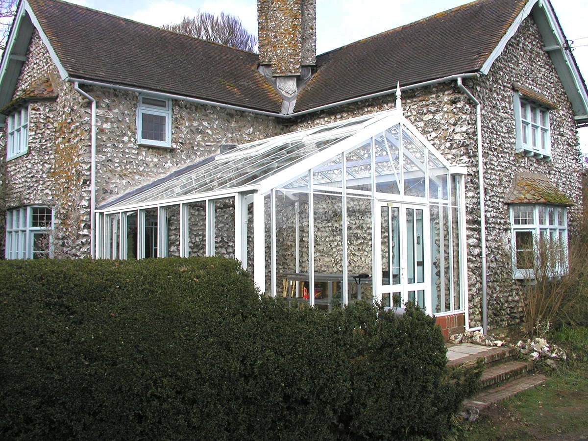 Greenhouse attached to a house