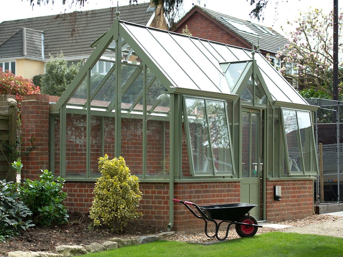 3/4 span aluminium greenhouse