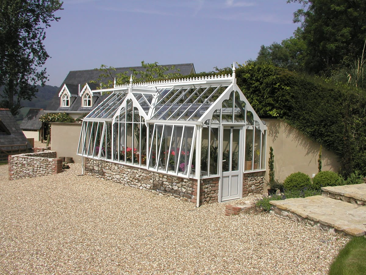 Bespoke 3/4 span greenhouse in Devon