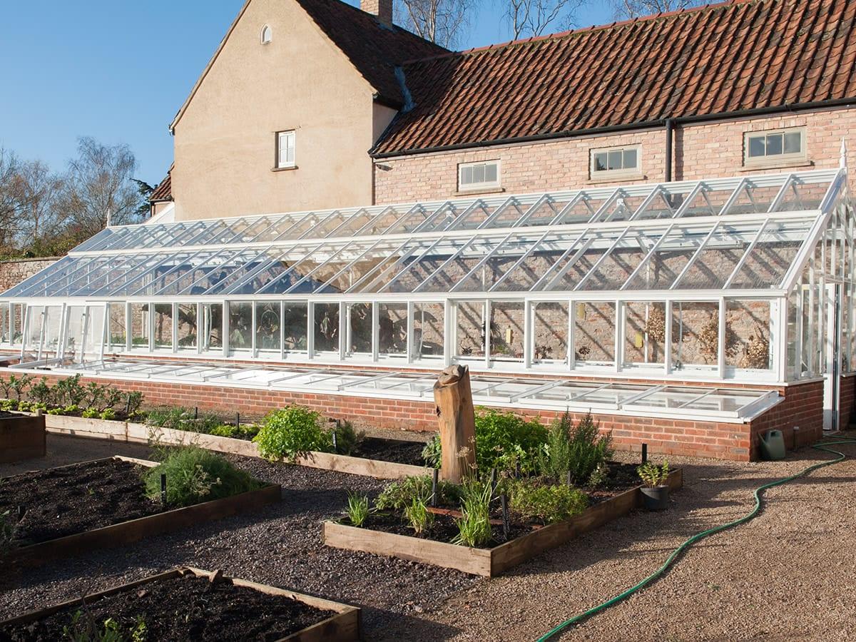 Large bespoke 3/4 span greenhouse