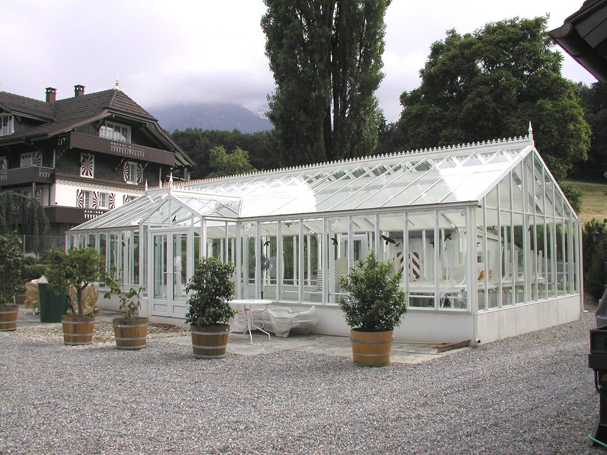 Large bespoke aluminium greenhouse