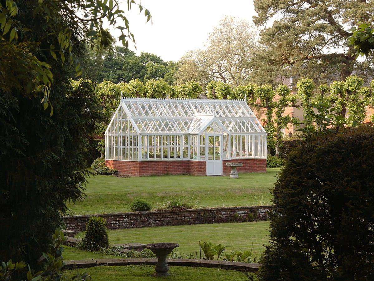 Victorian aluminium greenhouse