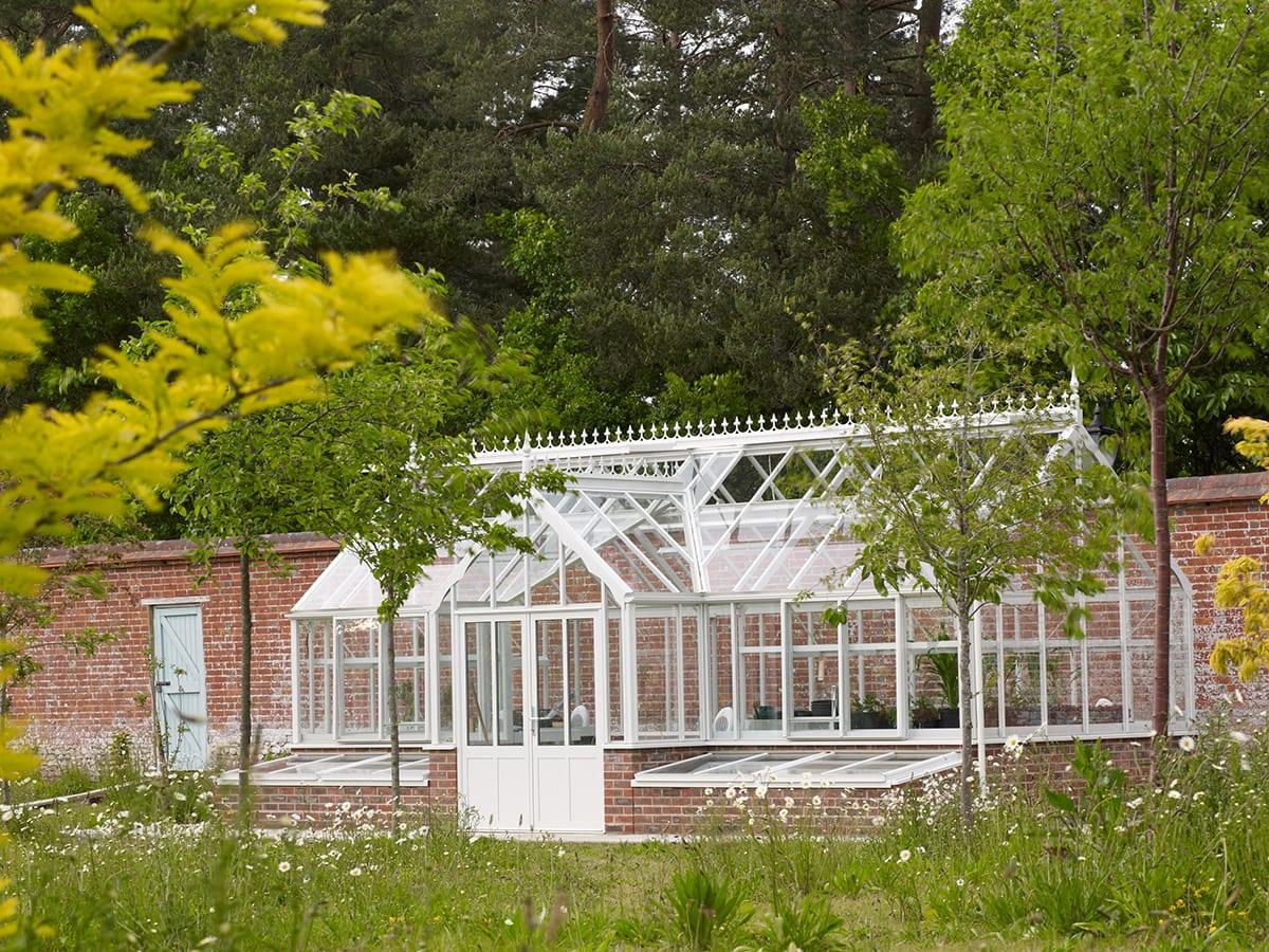 Large aluminium Victorian greenhouse