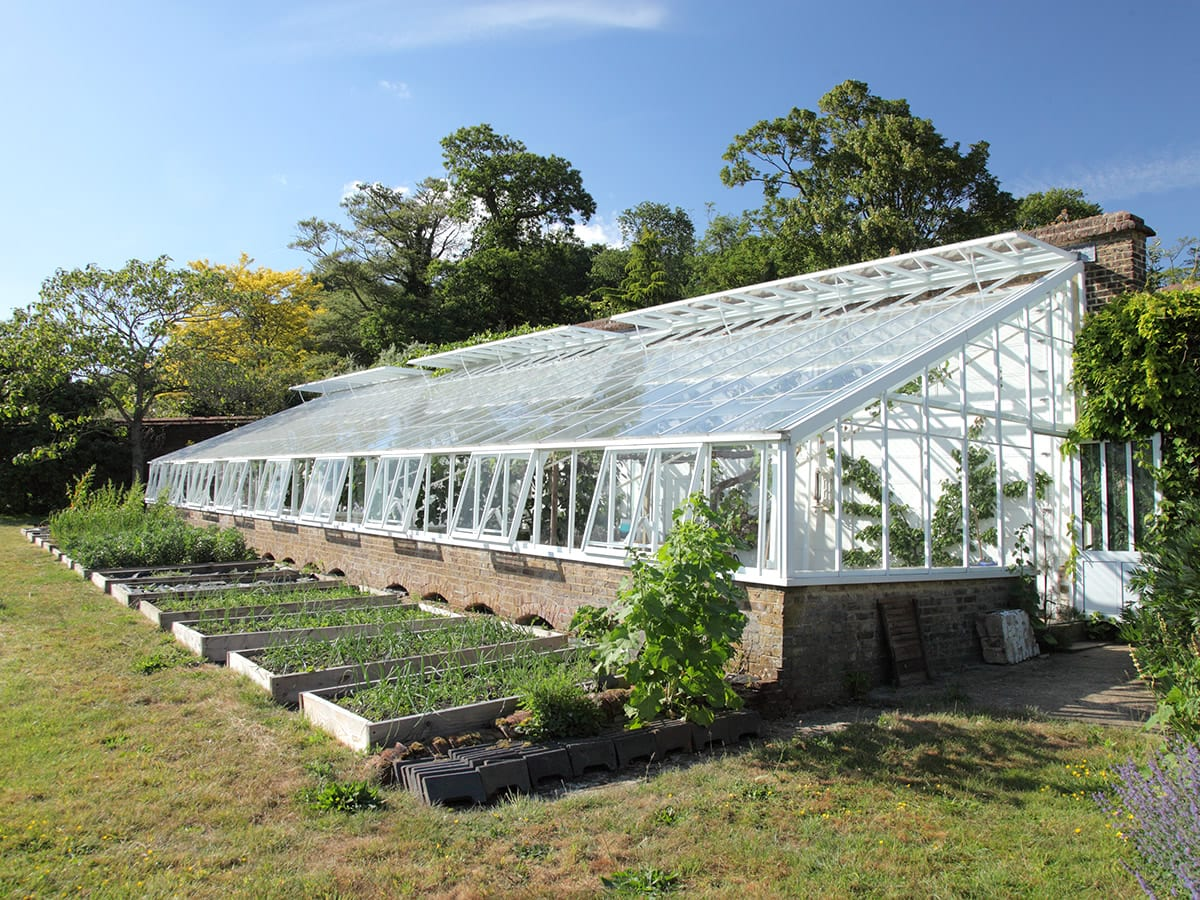 Large Victorian replacement lean to greenhouse