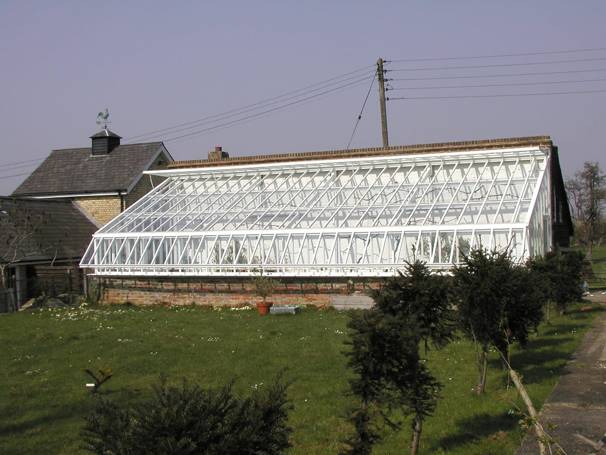 Large bespoke lean to greenhouse