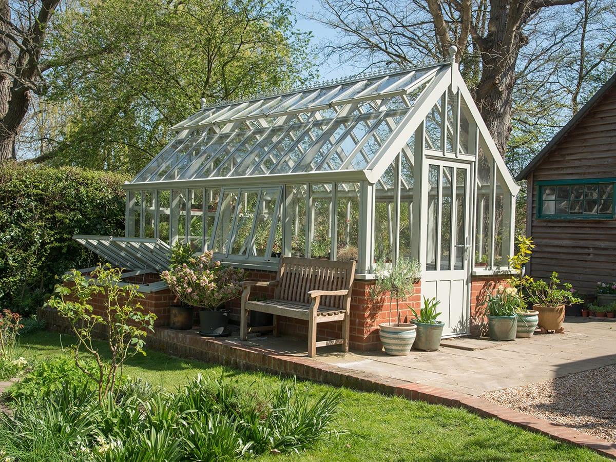 Beautiful aluminium Victorian greenhouse