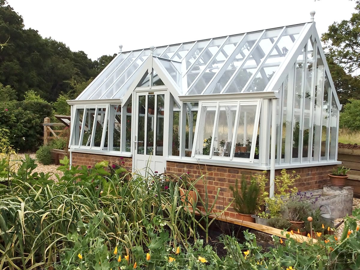National Garden Scheme (NGS) greenhouse Sage