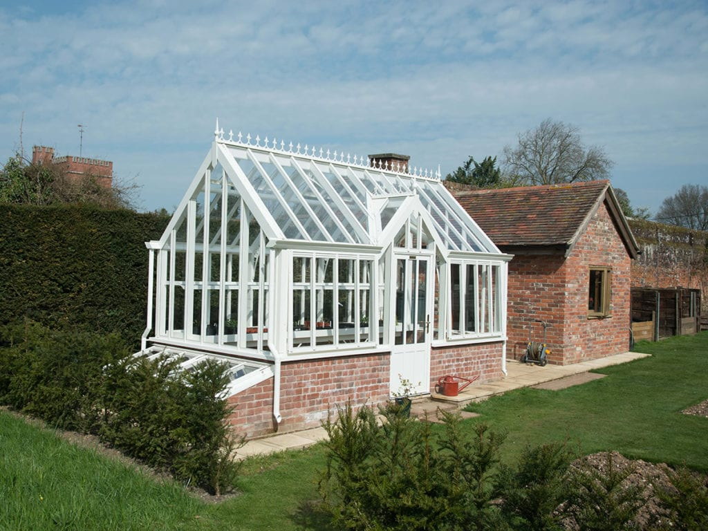 Victorian style aluminium greenhouse