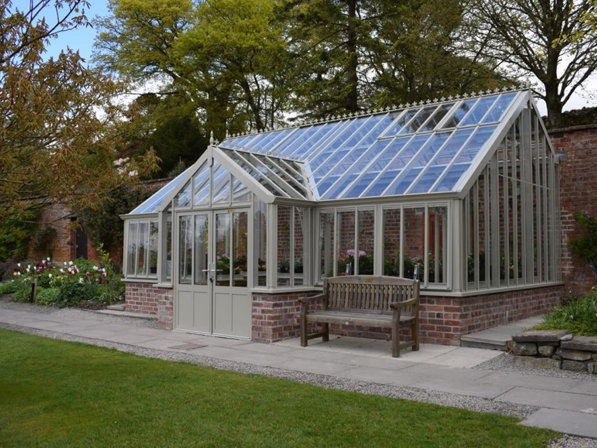 Three quarter span Griffin greenhouse at Holehird Gardens