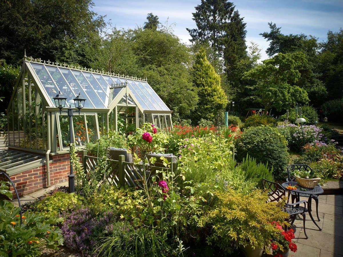 National Garden Scheme NGS Sage greenhouse