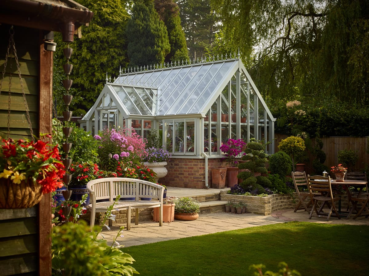 National Garden Scheme NGS Rosemary greenhouse